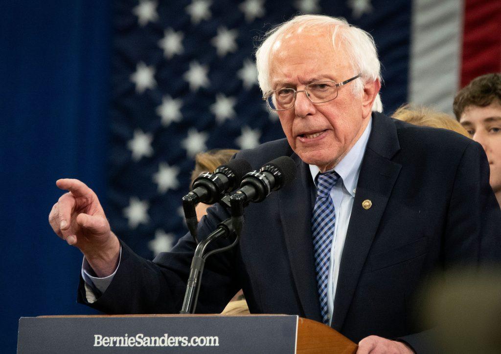 Senator Bernie Sanders rally for New Hampshire primary night, Manchester, USA